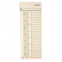 Widmer N24-7-EN Timecards for the N24-7 / 1,000 per box