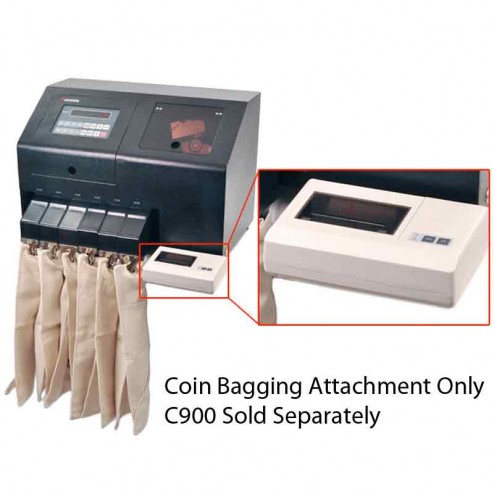 Coin Bagging Attachment for the C900 Commercial Coin Counter A-C900-BW