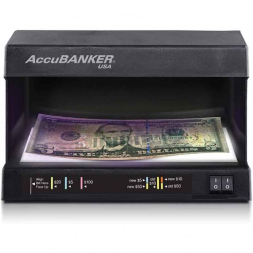 AccuBanker D63 Counterfeit Money Detector UV/WM