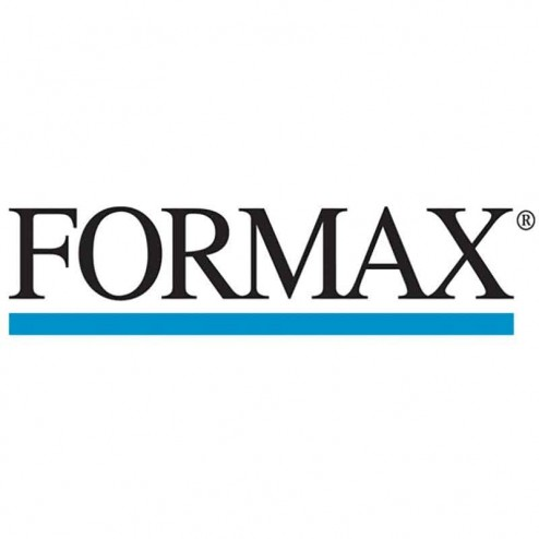 "Formax 262-10 Case of 1"" Round White Paper Tabs"