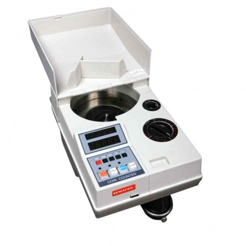 Semacon S-120 Table Top Portable Electric Coin Counter with Batching Packaging and Offsorter