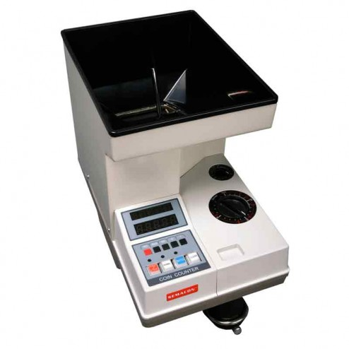 Semacon S-140 Table Top Electric Coin Counter with Batching Packaging and Offsorter