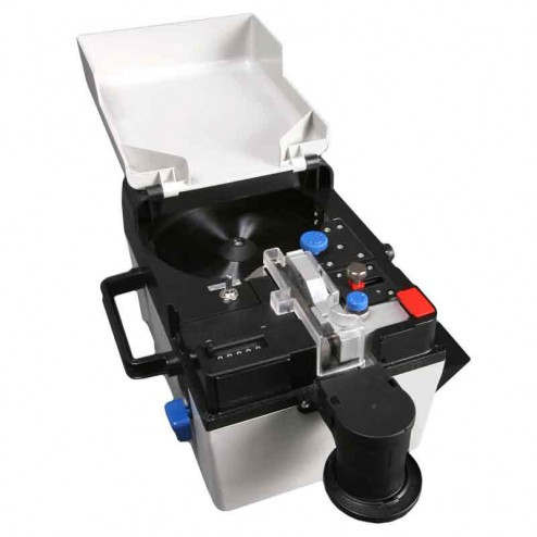 Semacon S-45 Table Top Portable Electric or Manual Coin Counter with Batching and Packaging