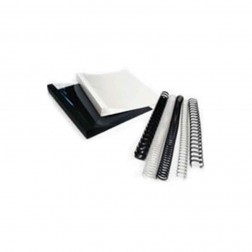 """DocuGem 1"""" 19 Ring Plastic Comb Binding - White"""