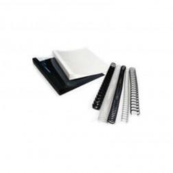 DocuGem 1-1/8'' 19 Ring Plastic Comb Binding -  Clear