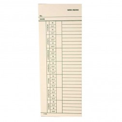 Widmer N24-7-EN Timecards for the N24-7 / 1,000 per box